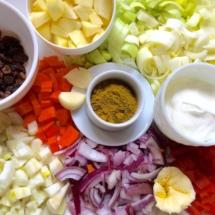 préparation curry de légumes @Delphinn