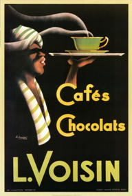 affiche café et chocolat Voisin