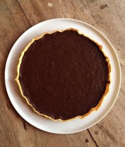 tarte au chocolat cuite