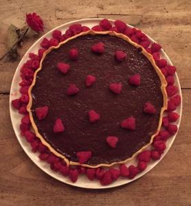 tarte chocolat framboise