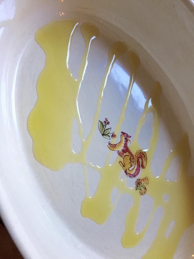 plat à gratin et huile d'olive