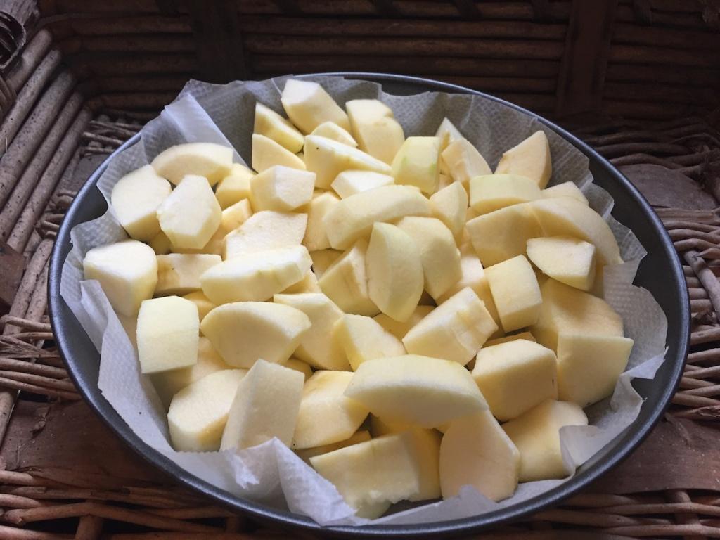 pommes coupées dans le moule