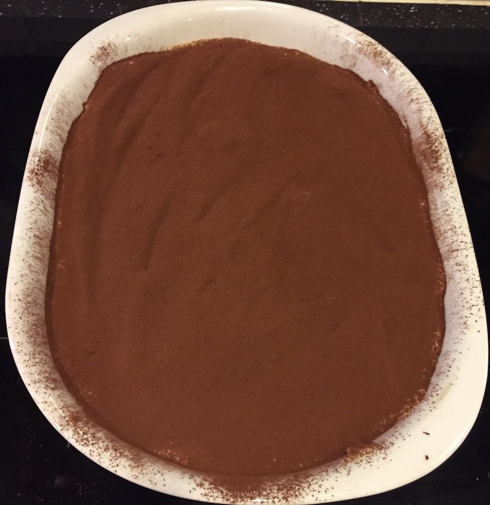 tiramisù dessus cacao