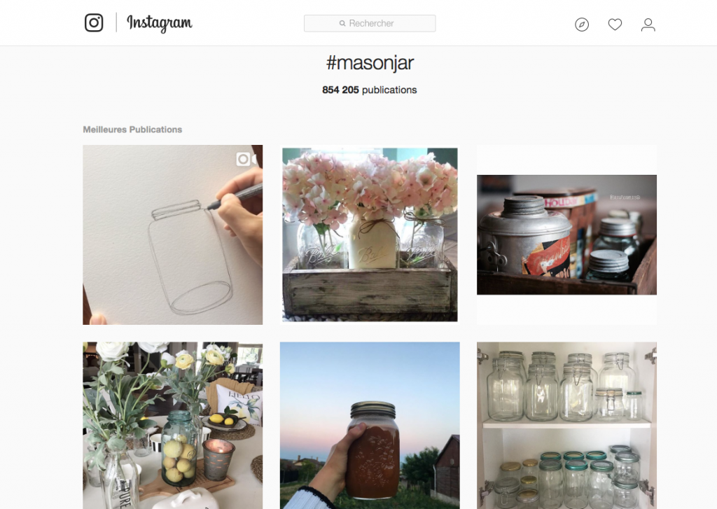Instagram Mason Jar