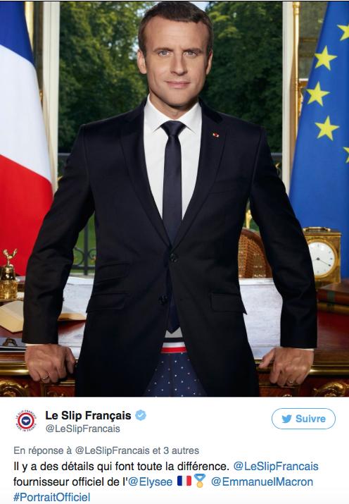 Portrait présidentiel Slip Français