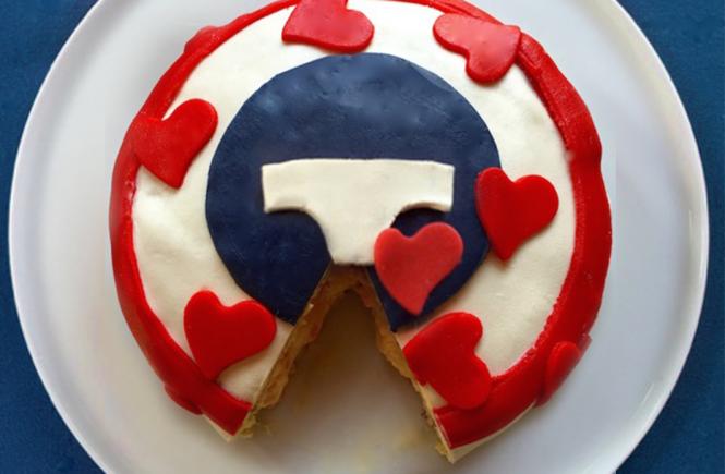 Le gâteau du slip français après dégustation