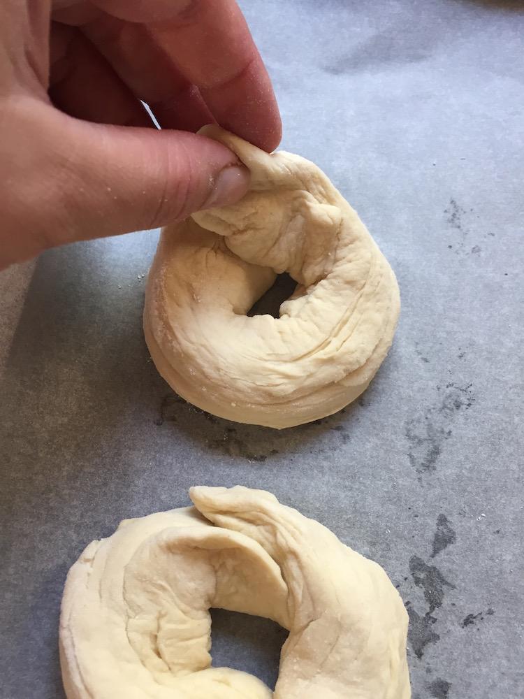 façonner les bagels 2