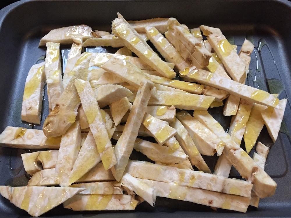 frites de céleri rave