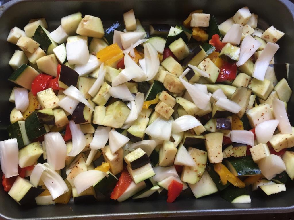 légumes grillés dans la lèchefrite